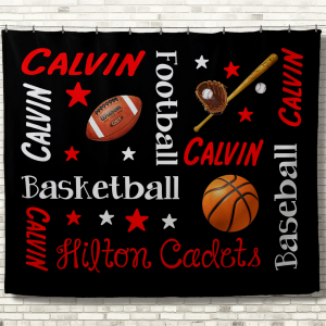 Personalized Team Blankets