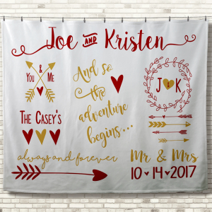 Personalized Wedding Blankets