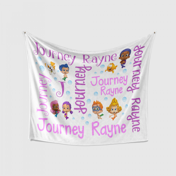 Personalized Bubble Guppies Blanket