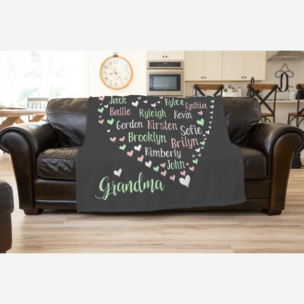 Family Names in a Heart Love Is Design