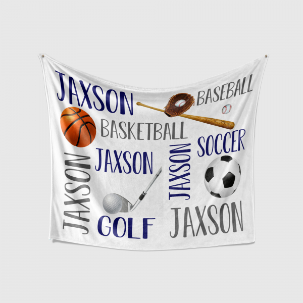 Personalized Sports Blanket