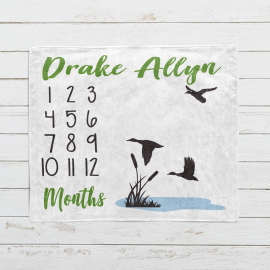 Personalized Duck Hunter Monthly Milestone Blanket