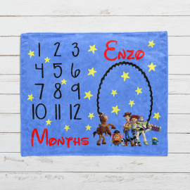 Personalized Toy Story Milestone Blanket