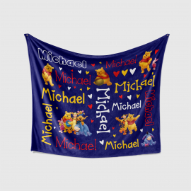 PERSONALIZED BABY BLANKET - WINNIE THE POOH