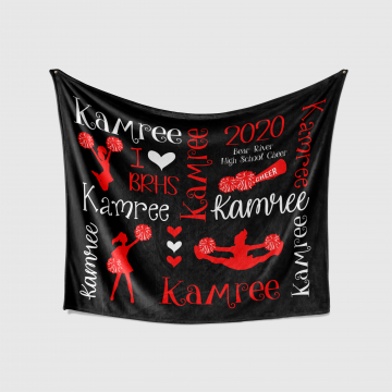 Personalized Cheer Blanket