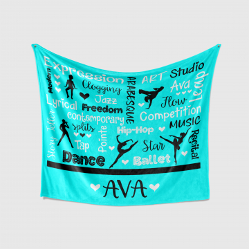 Personalized Dance Words Blanket
