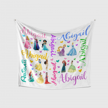 Personalized Baby Blanket - Disney Princesses
