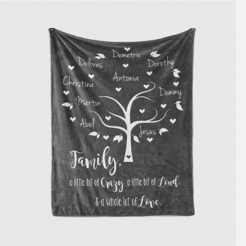 Personalized Family Tree Blanket