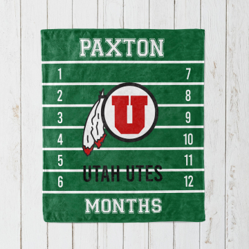 Personalized College Football Monthly Milestone Blanket