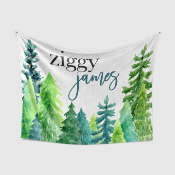 Personalized Forest Baby Blanket with Name