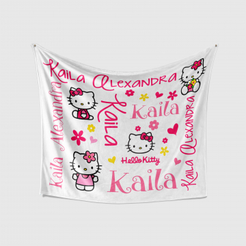 Personalized Hello Kitty Baby Blanket
