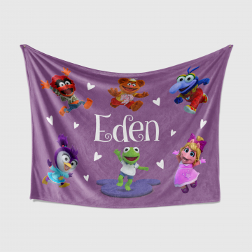Personalized Muppet Babies Blanket