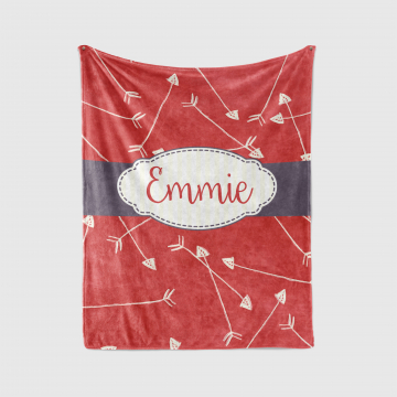 Hand Drawn Arrows Monogrammed Name Blanket