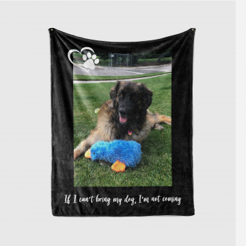 Personalized Pet Photo Quote Blanket