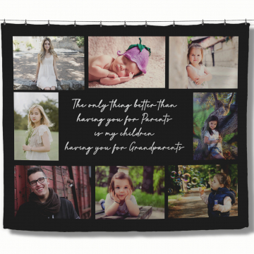 Customized Photo Blanket with Quote