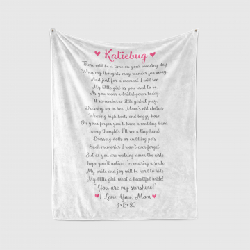 Custom Poem Wedding Blanket