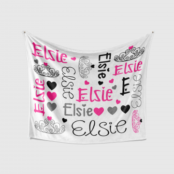 Personalized Princess Crown Baby Blanket