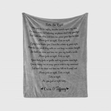 Custom Song Lyric Blanket
