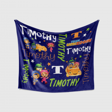 Personalized Team Umi Zoomi Blanket
